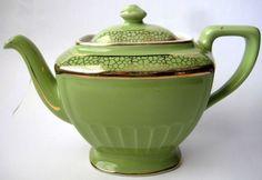 Vintage Hall Green Tea Pot, Q0102, 6 Cup #Hall