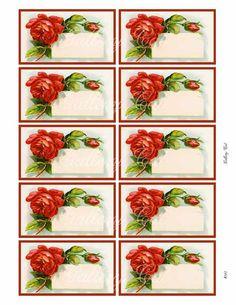 Printable Lables, Clock Printable, Boarder Designs, Apple Logo Wallpaper Iphone, Rose Images, Card Sentiments, Decoupage Vintage, Vintage Labels, Collage Sheet