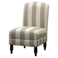 Mallory Upholstered Armless Chair - Neutral Stripes $170