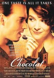 Chocolate, France and Johnny Depp    THE best movie ever. Watching this tonight!! A must for my new year ;)