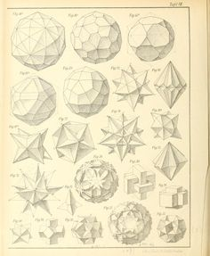 Bruckner's Polyhedra Geometric Designs, Geometric Shapes, Masonic Symbols, Art Prompts, Shade Structure, Space Images, Class Projects, Paper Folding, Sacred Geometry