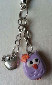 Owl keychain www.craftsbycloud.weebly.com