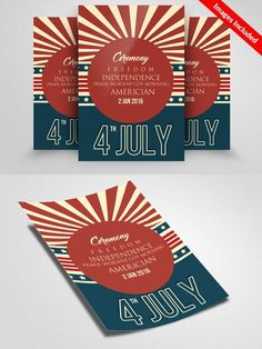 4 Of July Flyer Template. Flyer Templates. $6.00