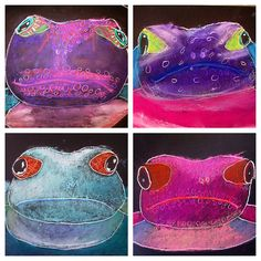 chalk pastel frogs | www.smallhandsbigart.com | Flickr - Photo Sharing!