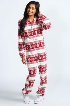 Onesie Christmas Pajamas Breeze Clothing