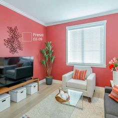 The Cute color of wall Small Living Room Design, Small Apartment Living, Small Living Rooms, Living Room Interior, Interior Design Living Room, Bedroom Color Combination, Minimal House Design, Turquoise Room, Bedroom Color Schemes