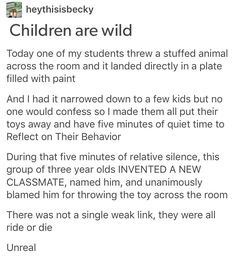 We did this in primary and his name was Carl. One day a classmate brought her stuffed kangaroo toy and said he was Carl. He stayed until the end of term and she had to bring him home for the holidays. Stupid Funny, Funny Cute, Really Funny, Hilarious, Funny Stuff, Random Stuff, Funny Memes, Jokes, Funny Tweets