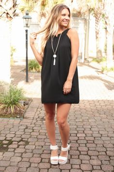 Back in Black Dobby Sleeveless Dress