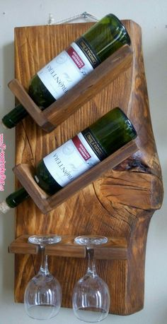 bouteille - Home decor - Wein Wooden Projects, Woodworking Projects Diy, Diy Projects, Rustic Furniture, Diy Furniture, Wine Rack Inspiration, Wine Rack Design, Rustic Wine Racks, Pallet Wine Racks
