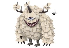 A set of monster characters designed for the IBM Marketing Cloud website.