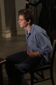 American Horror Story - Season 2 - Asylum - Episode Still Evan Peters, Beautiful Boys, Pretty Boys, Ahs Asylum, Tate And Violet, Kit Walker, American Horror Story Asylum, Divas, Verbatim