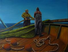 Quadro Pintura by Jorge Marcovich Pesca  55x65 fishery Oil Painting