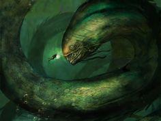 """Leviatã era uma besta do mar do Antigo Testamento, muitas vezes associada com Satanás, criada por Deus. """"Leviatã era um peixe monstruoso criado no quinto dia da criação. lenda diz no banquete depois do Armagedom, a casca do leviatã será servido como alimento.."""