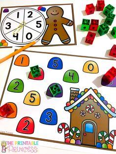 The Printable Princess: December Math and Literacy Fun