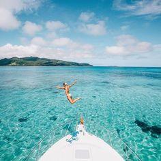 "Lauren Bullen on Instagram: ""Jumping into Paradise @tourismfiji #FijiNow Photo blog now up.. ✨"""