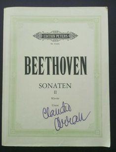 Beethoven Klaviersonaten II Claudio Arrau Urtext Peters Ver.+Autogramm/Signiert Claudio Arrau, Chalkboard Quotes, Art Quotes, Ebay, Piano, Sheet Music, Musical Instruments