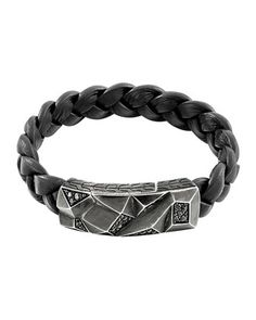 Men\'s Classic Chain Lava Station Bracelet, Black  by John Hardy at Neiman Marcus.