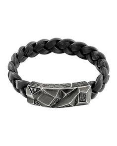 Men's Classic Chain Lava Station Bracelet, Black by John Hardy at Neiman Marcus.