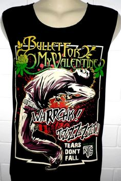 Bullet for My Valentine Rock Band Music Metal T Shirt Tank Top Singlet Vest Sleevless One Size Fits All