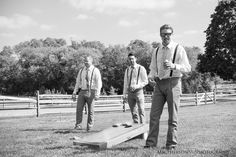 Perfect idea for the groomsmen, Cornhole - Ironstone Ranch - Rustic Farm Wedding  - @Ironstone Ranch - @C&J Catering - http://macfamilyphoto.com #barnwedding #groomsmen #rusticwedding #farmwedding