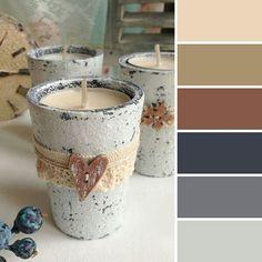 Красивые цветовые сочетания с коричневым и серым.