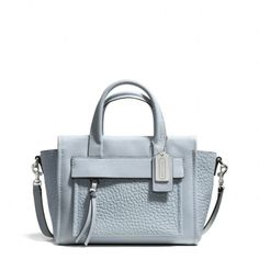 Coach pastel color leather satchel / Coach コーチ ブリーカー レザー ミニ ライリー キャリーオール - shopstyle.co.jp