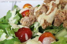 Fried chicken and vegetable salad | CASA Veneracion