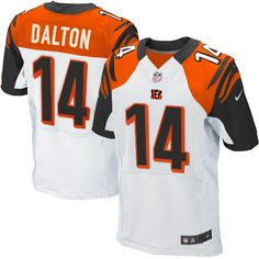Nike Elite Men's Cincinnati Bengals #14 Andy Dalton White NFL Jersey  $129.99