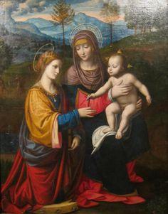 Bernardino Luini - Madonna and Child with Saint Catherine of Alexandria