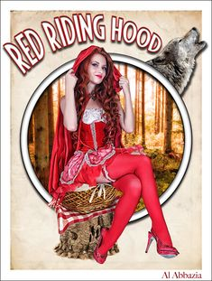 Red Riding Hood | Al Abbazia print #pinupartsource #pinup