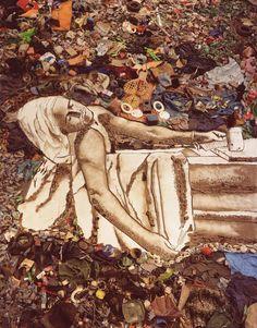 "#Art ~ #VikMuniz ~ Marat (Sebastião), from ""Pictures of Garbage"" series, 2008."