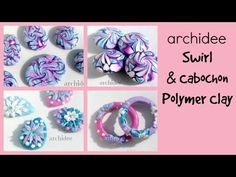 Video Creazioni   Polymer Clay   DIY Cabochon   Swirl   Beads