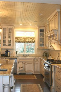 Inviting Home Inspired | beautiful cozy kitchen with Mission style corbels | kitchen design | kitchen decor