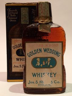 Golden Wedding Whiskey Jos. S. Finch Medicinal Whiskey from Prohibition | LA Whiskey Society