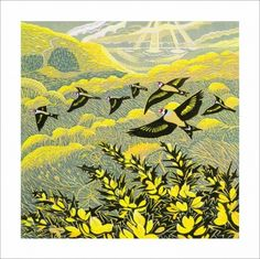 Warren Glen linoprint Greeting Card by Annie Soudain Cool Paintings, Cool Artwork, Illustrations, Illustration Art, Artist Card, Linoprint, Retro Art, Linocut Prints, Whimsical Art