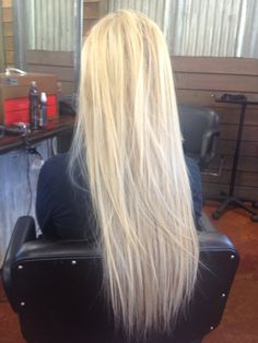 Pretty blond highlights with extensions