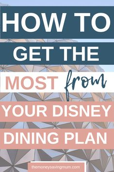 Looking for ways to get the most from you FREE Disney dining plan on your next trip to Disney? Then check out these top 10 tips on how to ensure you are getting the best value and not wasting your credits! Disney World Rides, Disney World Food, Disney World Florida, Disney World Planning, Walt Disney World Vacations, Disney Worlds, Disney On A Budget, Disney Cruise Tips, Disney Travel