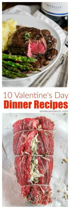 10 Valentine's Day Dinner Recipes - these Valentine's Day recipes are perfect for a romantic dinner or Galentine's Day! day dinner for 2 Valentine's Day Dinner Recipes - Smile Sandwich Birthday Dinner Recipes, Night Dinner Recipes, Date Night Dinners, Romantic Dinner Recipes, Birthday Dinners, Romantic Dinners, Easy Romantic Dinner, Fancy Dinner Recipes, Anniversary Dinner Recipes
