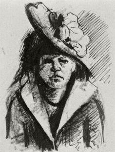 Vincent van Gogh - Woman with Hat, Half-Length, Antwerp: January, 1886 (Brooklyn, Brooklyn Museum)