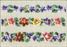 Old Berlin pattern Mini Cross Stitch, Cross Stitch Borders, Cross Stitch Rose, Cross Stitch Flowers, Cross Stitch Designs, Cross Stitching, Cross Stitch Patterns, Vintage Cross Stitches, Vintage Embroidery
