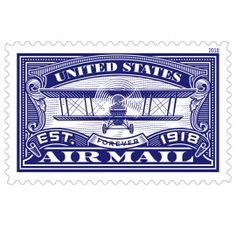 United States Air Mail Blue This Is An Augmented Reality Stamp Buy Stamps