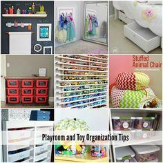 Playroom and Toy Organization Tips via The Idea Room