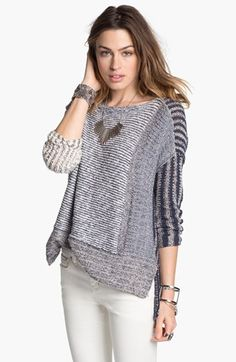 Free People 'I'm Cool with Stripes' Sweater available at #Nordstrom