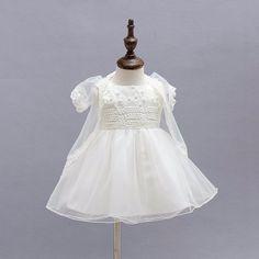 Bordado del bebé vestidos de bautizo niñas niño tul vestidos infantiles primera comunicación ropa con el sombrero en Vestidos de Bebés en AliExpress.com   Alibaba Group