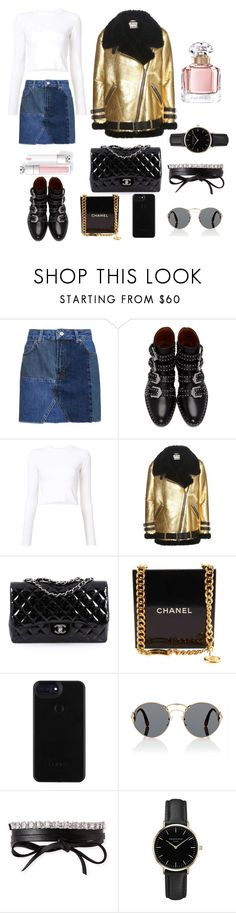"""jeans"" by mycky ❤ liked on Polyvore featuring Topshop, Givenchy, Proenza Schouler, Acne Studios, Chanel, Prada, Fallon, ROSEFIELD and Guerlain"