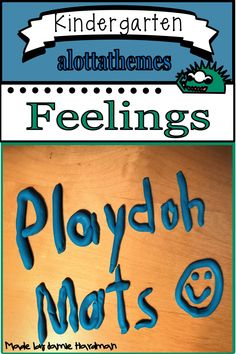These mats are a fun way to practice talking about our feelings/emotions. All you need to do is just print and laminate them, so the prep is super easy! Language Activities, Motor Activities, Reading Activities, Kindergarten Classroom, Kindergarten Activities, Classroom Ideas, Early Childhood Activities, Feelings And Emotions, Play Doh