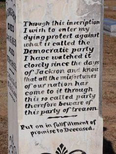 Grave Statement by Nathaniel Grigsby