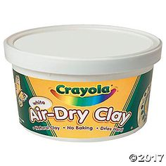 Crayola Air Dry Clay in a pound resealable Tub. Air Dry Clay is a fine, natural white earth clay which air dries to a hard solid. Use it to make clay sculpture Crayola Air Dry Clay, Air Dry Modeling Clay, Clay Tools, Ceramic Studio, White Clay, Ben And Jerrys Ice Cream, Sculpture Clay, Oriental Trading, Clay Crafts