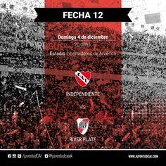 HOY INDEPENDIENTE ¡#Independiente y River Plate se enfrentan por la fecha 12!  #VamosRojo