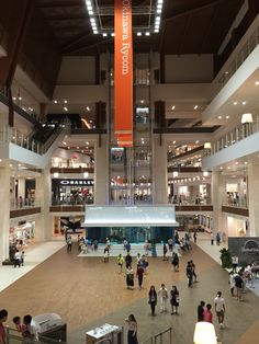 Shopping mall in Okinawa Rycom with gigantic aquarium and hundreds of stores